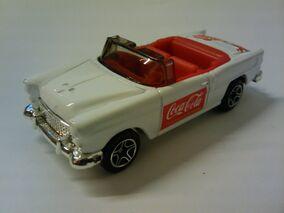 Coca Cola 1955 Chevy Convertible white