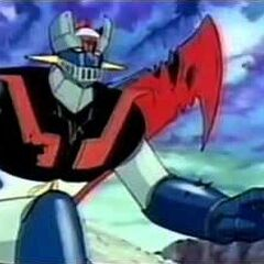 Mazinger Z prepare for the fight