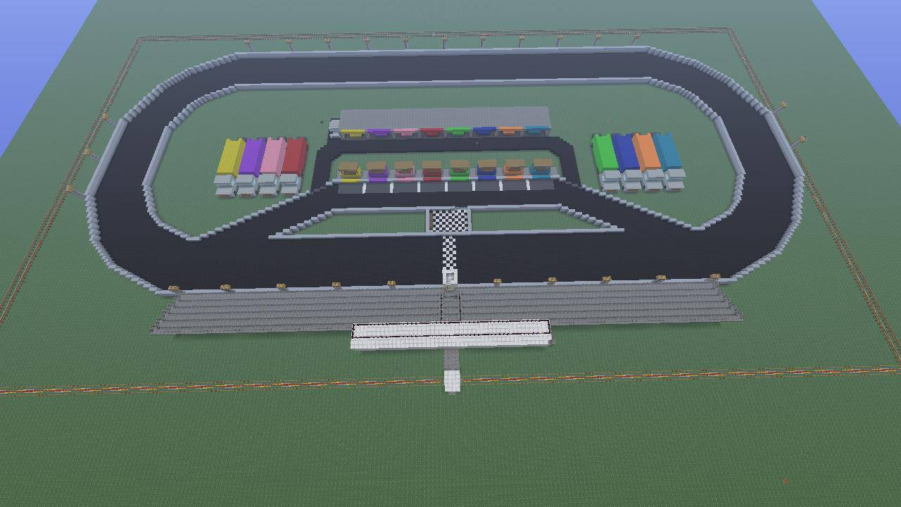 creation oval racetrack minecraft creations wiki. Black Bedroom Furniture Sets. Home Design Ideas