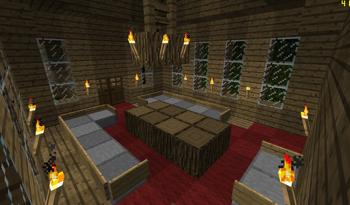 Image living minecraft creations wiki Living room furniture minecraft
