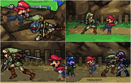 Mario and Link Sprites