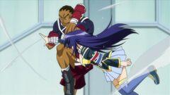 Takachiho breaks Medaka's arm