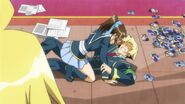 Akune finds Zenkichi and Kikaijima in a compromising position