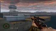 Battleship Raiders lone gun