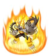 Megamancross heatbeast