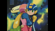Megaman catches Roll after she passes out
