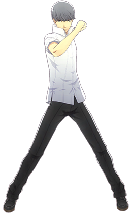 File:P4D Yu Narukami summer school uniform change.PNG