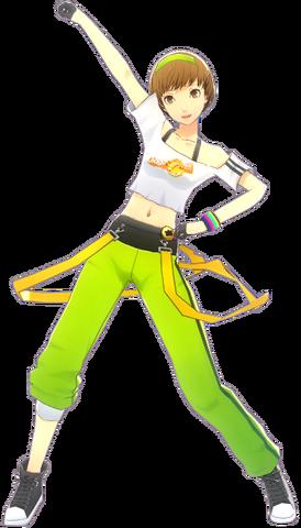 File:P4D Chie Satonaka Original Stage Costume DLC.png