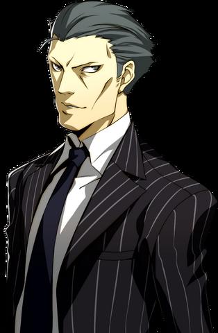 File:Detective Kurosawa portrait in P4A.png