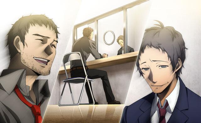 File:P4AU (Adachi DLC Episode, Adachi and Dojima reconnected).jpg