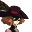 P5 portrait of Haru Okumura's phantom thief outfit