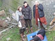 Rupert Young Colin Morgan and Richard Wilson Behind The Scenes Series 4