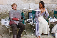 Bradley James and Angel Coulby Behind The Scenes Series 2