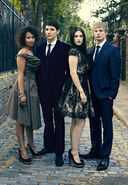 Angel Coulby Colin Morgan Katie McGrath and Bradley James