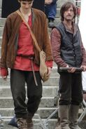Colin Morgan and Mackenzie Crook Behind The Scenes Series 2