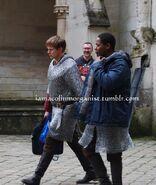 Bradley James and Adetomiwa Edun Behind The Scenes Series 5