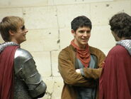 Bradley James Colin Morgan and Alexander Vlahos Behind The Scenes Series 5-2