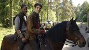 Adetomiwa Edun and Colin Morgan Behind The Scenes Series 3-1