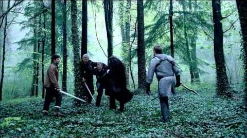"Merlin 5×04 Arthur fight scene ""Another's Sorrow"""