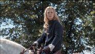 Morgause atının üzerinde