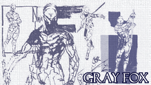 Metal Gear Solid Gray Fox by FireCouch1