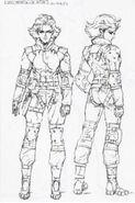 Art of MGS TTS Sneaking Suit Meryl