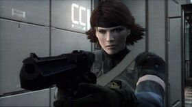 MGS4 Meryl Silverburgh with Desert Eagle, Outer Haven