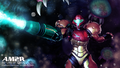 AM2R Samus and Metroids wallpaper.png