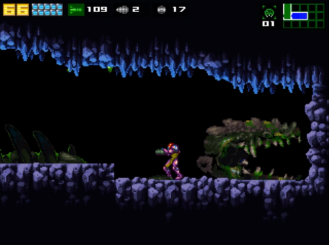 File:AM2R - Queen Metroid corpse.png
