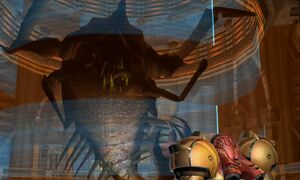 Samus encounters Parasite Queen Dolphin HD.jpg