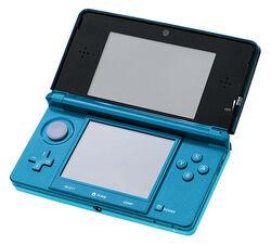 Nintendo 3DS в цвете Aqua Blue