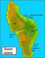 Sazan-island-map-english