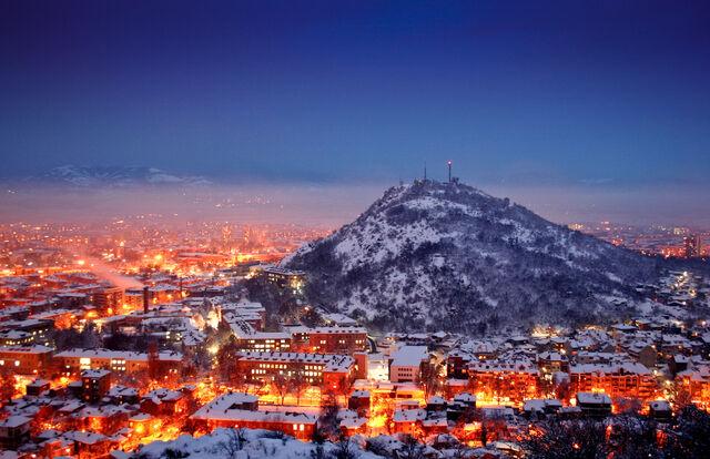 File:Plovidiv Winter Night Life.jpg