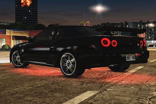 Car Picker - black nissan Skyline