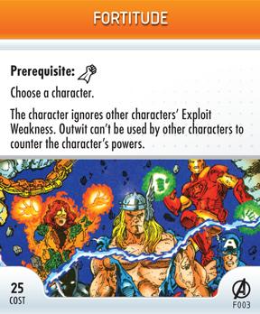 Merchandise-heroclix-card fortitude