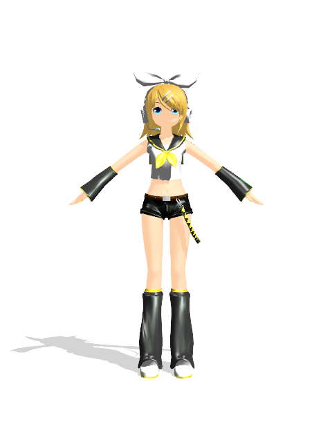 Rin Kagamine Outfit Rin Kagamine Model