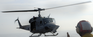 UH-1N lands on USS Carter Hall