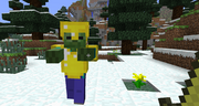 GoldArmored zombie
