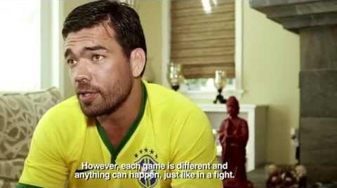 UFC 175 Lyoto Machida Watches the World Cup