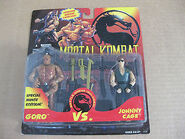 Goro vs. Cage figure carded 2