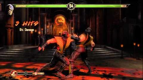 Mortal Kombat 9 - Secret Fight with Shadow Noob (Noob defeated)