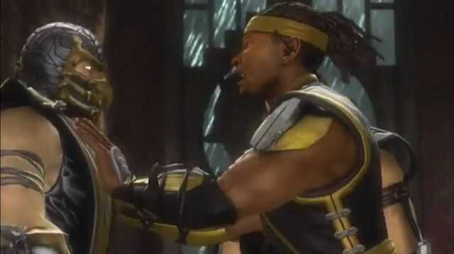 File:Cyrax pushes Scorpion.JPG