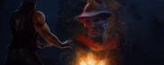 Freddy Kueger's evil spirit