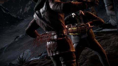 "Mortal Kombat X - Leatherface's ""Hook and Sinker"" Fatality"