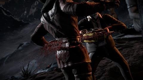 "Mortal Kombat X - Leatherface's ""Hook and Sinker"" Fatality"
