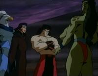 Asgarth, Kitana, Liu Kang and Sheeva