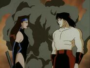 Princess Kitana & Liu Kang (cartoon)