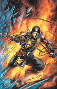 MORTAL KOMBAT X ISSUE 1 COVER SCORPION
