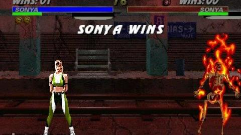 Mortal Kombat 3 - Fatality 1 - Sonya
