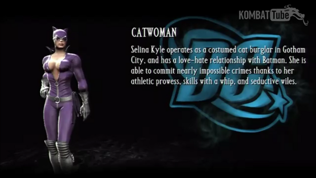 File:Catwoman's Bio from Mortal Kombat vs DC Universe.png